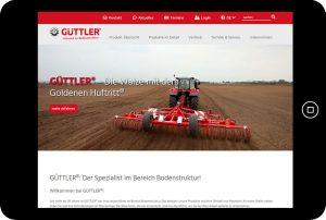 Güttler GmbH - Startseite Tablet