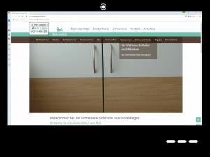 Relaunch Webseite Schreinerei Schindler GbR
