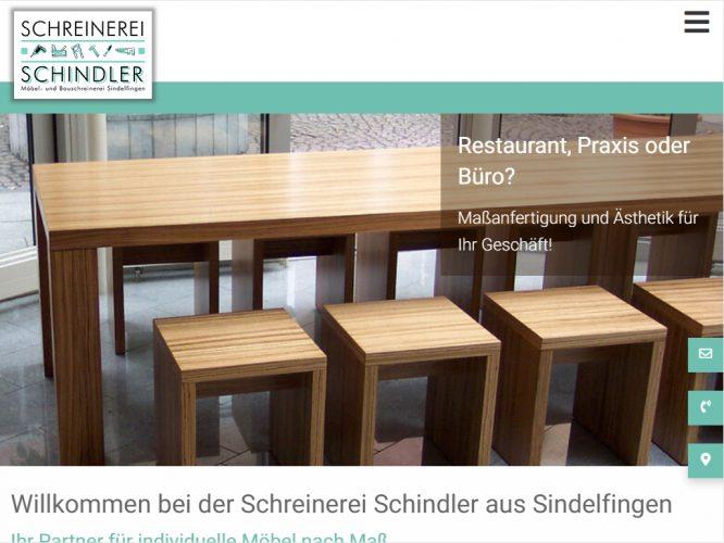 Relaunch Schreinerei Schindler